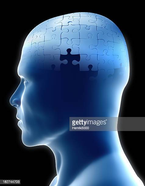 Head puzzle - Clipping path included