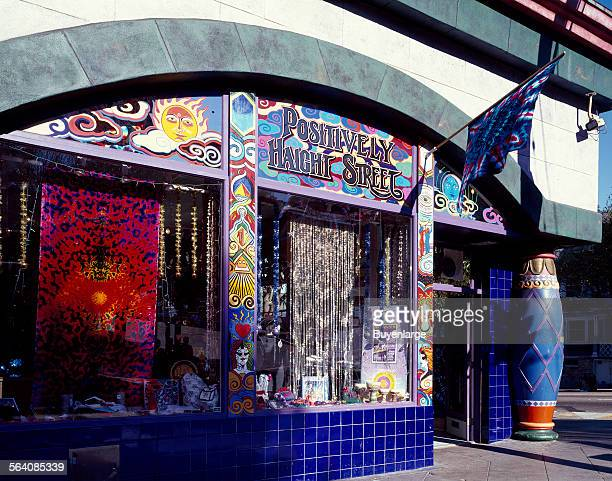 'Head shop' on Haight Street in the HaightAshbury section of San Francisco California where the hippie movement was headquartered in the 1960s