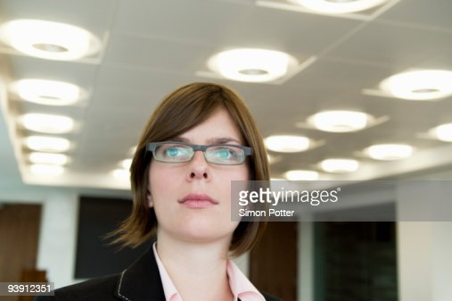 A head shot of a business woman : Stock Photo