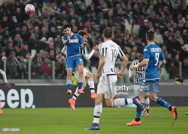 Head shot of Matteo Politano during the serie A match between Juventus FC and US Sassuolo Calcio at the Juventus Stadium of Turin on march 11 2016 in...