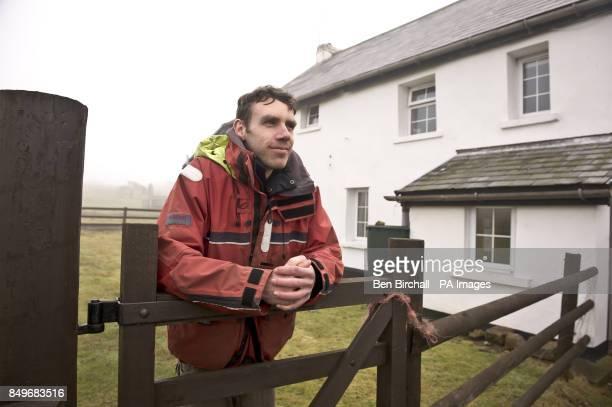 Head warden Matt Lipton beside the farmhouse on Flat Holm island in the Bristol Channel Flat Holm is a limestone island in the Bristol Channel...