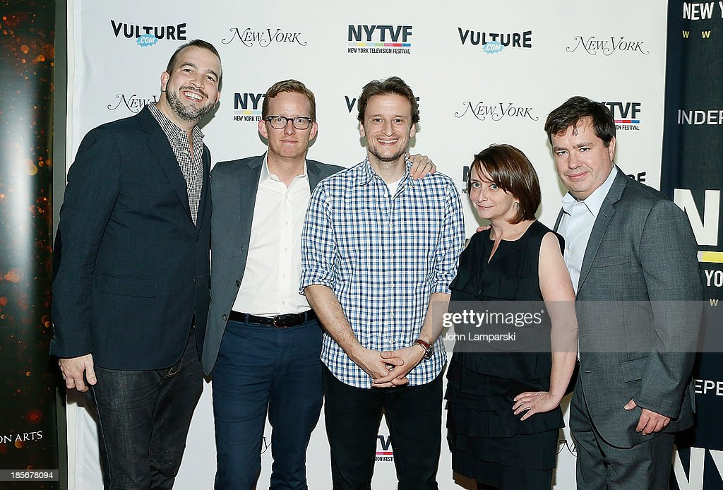 Head Writer of 'Late Night with David Letterman', Matt Roberts, Head writer of 'Late Night with Jimmy Fallon', A.D.Miles, Co-EP of 'Colbert Report', Barry Julien, actress Rachel Dratch and guest attend the 9th Annual New York Television Festival - Long Day's Journey Into Late Night: The Politics Of Funny at SVA Theater on October 23, 2013 in New York City.