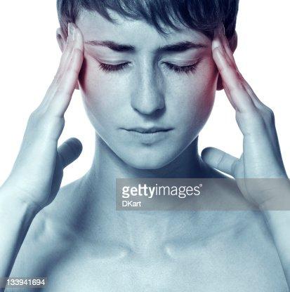 headache attack. Hangover
