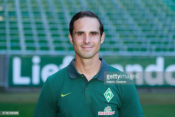 Headcoach Alexander Nouri poses during the offical team presentation of Werder Bremen II on July 20 2016 in Bremen Germany
