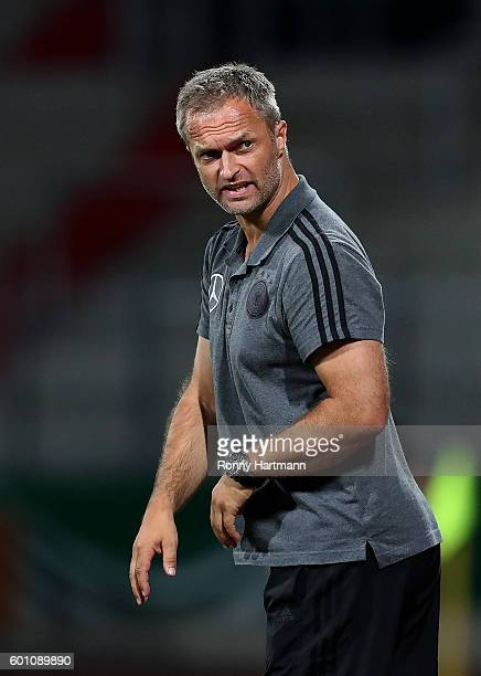 Headcoach Christian Wueck of Germany reacts during the Under 17 four nations tournament match between U17 Germany and U17 Netherlands at Steigerwald...
