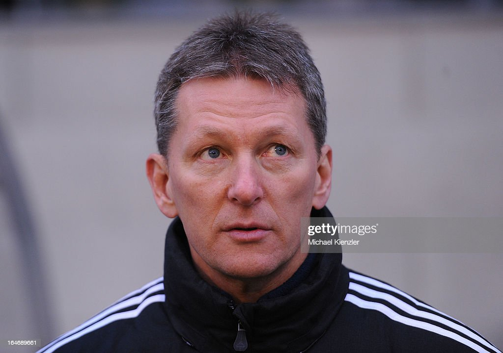 Headcoach Frank Wormuth of Germany before the international friendly match between U20 Switzerland and U20 Germany at Eps Stadium on March 26, 2013 in Baden, Switzerland