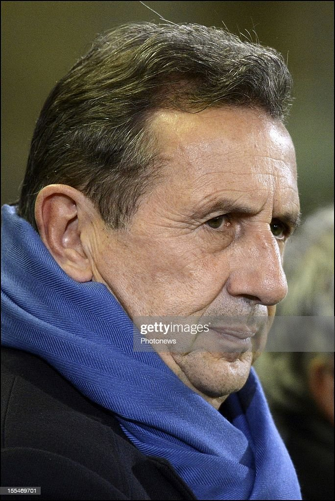 Headcoach Georges Leekens watches his team during the Jupiler Pro League match between Club Brugge and Zulte Waregem on November 4, in Brugge, Belgium.