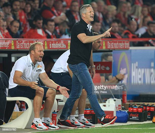 Headcoach Jens Keller of 1 FC Union Berlin during the game between dem 1 FC Union Berlin and Dynamo Dresden on August 15 2016 in Berlin Germany
