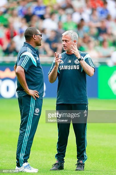 Headcoach Jose Mourinho and Technical Director Michael Emenalo of Chelsea during the pre season friendly match between SV Werder Bremen and FC...