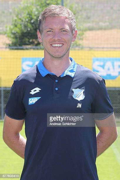 Headcoach Julian Nagelsmann poses during the offical team presentation of TSG 1899 Hoffenheim on July 19 2016 in Sinsheim Germany