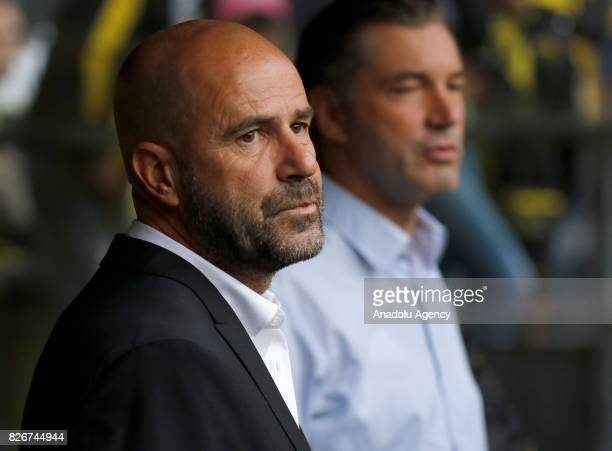 Headcoach Peter Bosz of Borussia Dortmund is seen ahead of the DFL Super Cup 2017 final match between Borussia Dortmund vs Bayern Munich at Signal...