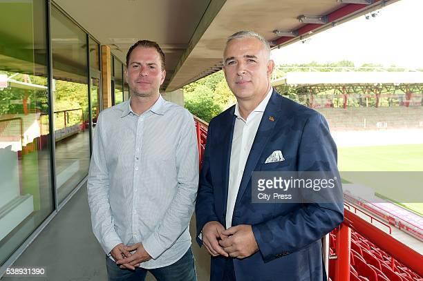 Headcoach Sascha Lewandowski dies at 44 on Juni 8 2016 in Bochum Germany Archivfoto Sascha Lewandowski und Präsident Dirk Zingler vom 1 FC Union...