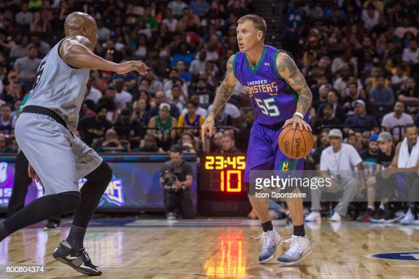 Headed Monsters player Jason Williams drives to the basket during a BIG3 Basketball League game on June 25 2017 at Barclays Center in Brooklyn NY