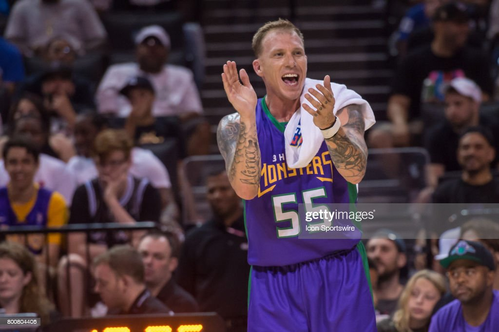3 Headed Monsters player Jason Williams (55) during a BIG3 Basketball League game on June 25, 2017 at Barclays Center in Brooklyn, NY