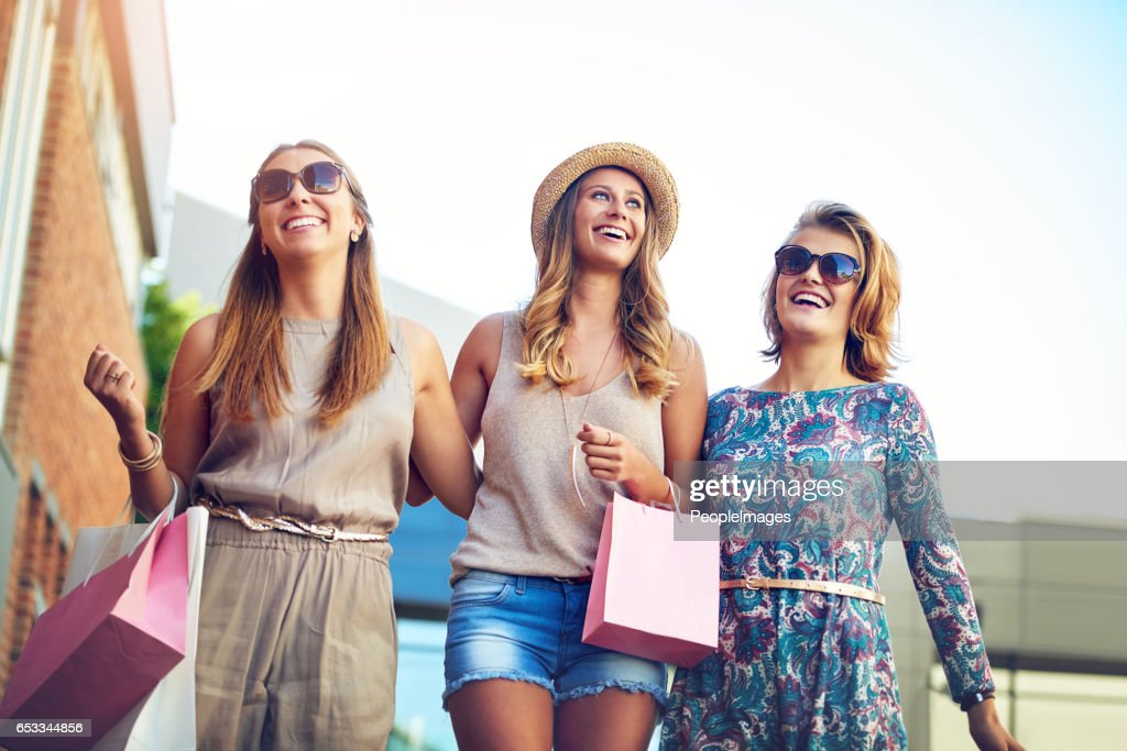 Heading out to buy a new wardrobe : Stock Photo
