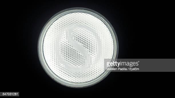 Headlight Against Black Background
