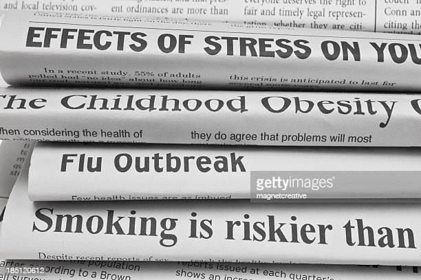 Titres sur les problèmes de santé