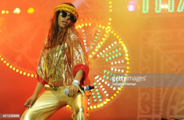 A headlines the West Holts stage on Day 1 of the Glastonbury Festival at Worthy Farm on June 27 2014 in Glastonbury England