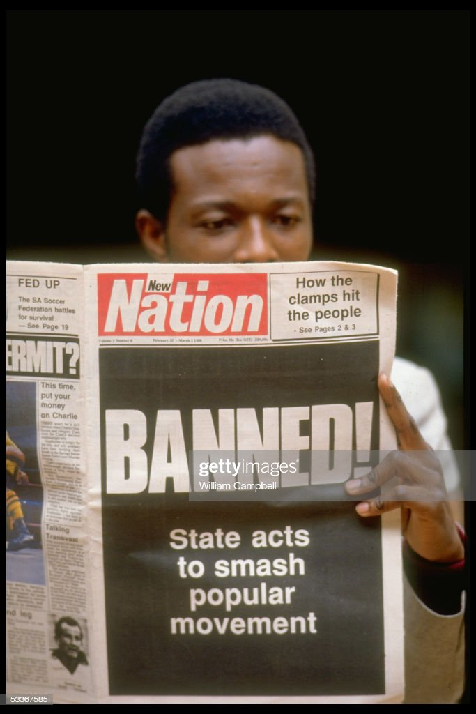NATION headlining government banning of 17 antiapartheid activist organisations engrossing nonwhite youth