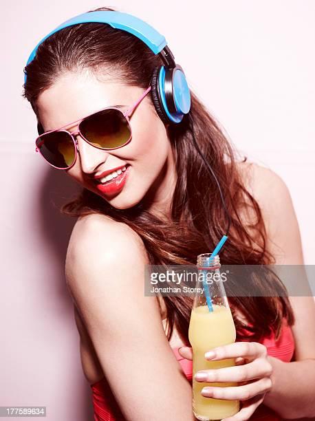 Headphones drink