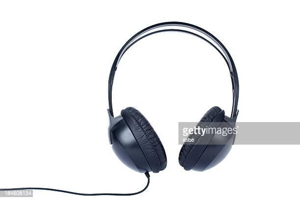 Écouteurs sur blanc