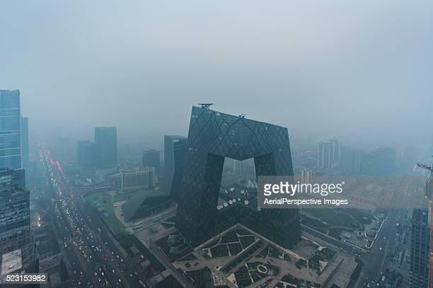 CCTV Headquarters, Beijing air pollution