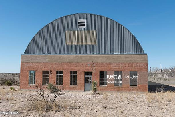 Headquarters building of the Chinati Foundation or La Fundacion Chinati a contemporary art museum in Marfa a surprisingly sophisticated town in the...