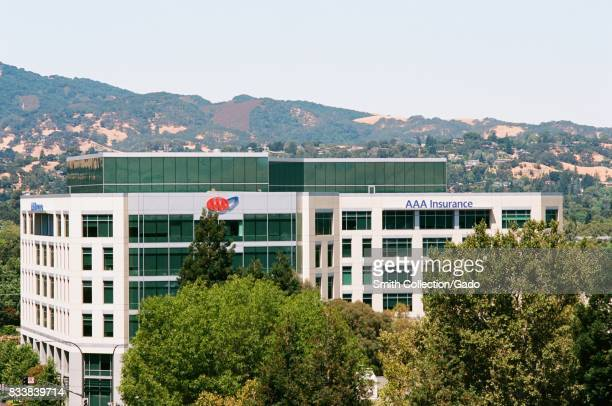 Headquarters for insurer and automotive services organization American Automobile Association Northern California with mountains visible in the...