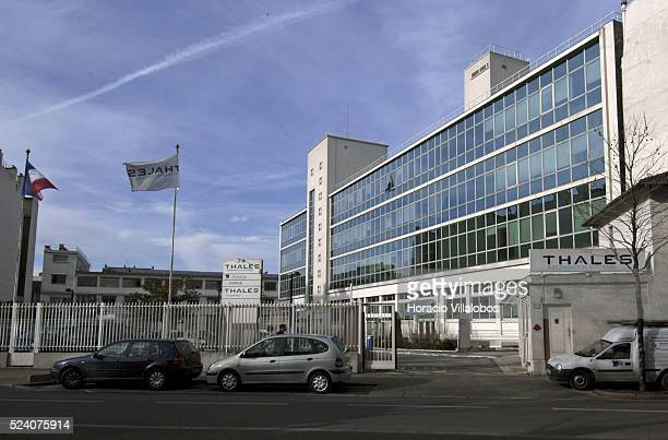 Headquarters of French communications company Thales whose subsidiary Thales Spectrum de Argentina has been accused by the Argentine Government of...