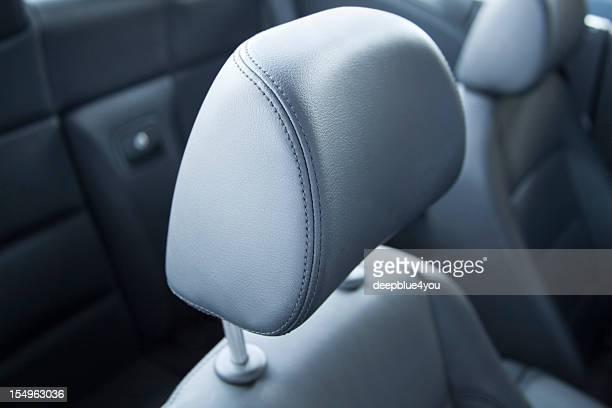 headrest in car close up
