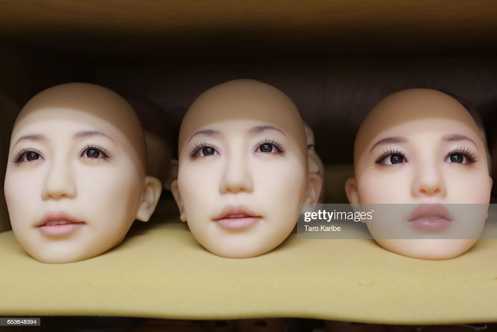 Heads of love dolls are seen on the shelf on March 9, 2017 in Tokyo, Japan. Japan's oldest and largest 'love doll' maker Orient Industry, has been producing silicone love dolls since 1977, and has seen there is a trend for intimate relationships with silicone dolls in Japan. The Orient Industry's factory produces approximately 500 life size hand-made per year, and one doll, costs up to 600,000JPY (approx. 6,000 USD), takes four to five weeks to be finished. Originally, the company was marketing love dolls for disabled people, and the company continues to support the community by providing discounts and consulting their sexual urges.