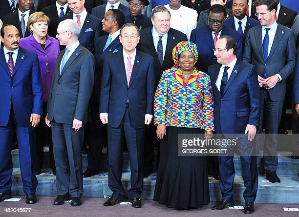 Heads of State and heads of delegation including Mauritania President Mohamed Ould Abdel Aziz EU Council president Herman Van Rompuy United Nations...