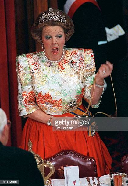 Heads Of State Banquet At Guildhall London Queen Beatrix