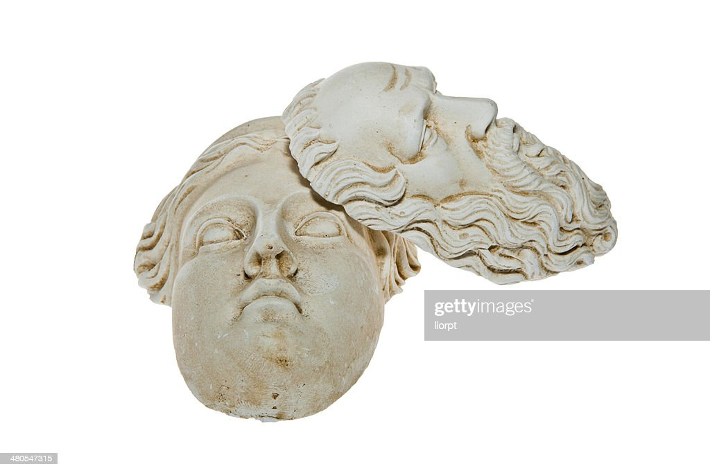 Heads of Zeus und Hera Skulpturen : Stock-Foto