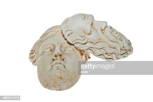 Cabezales de Zeus y esculturas de Hera : Foto de stock