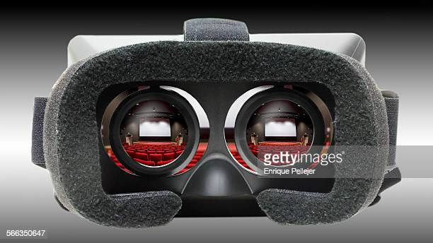 VR headset with cinema app on screen
