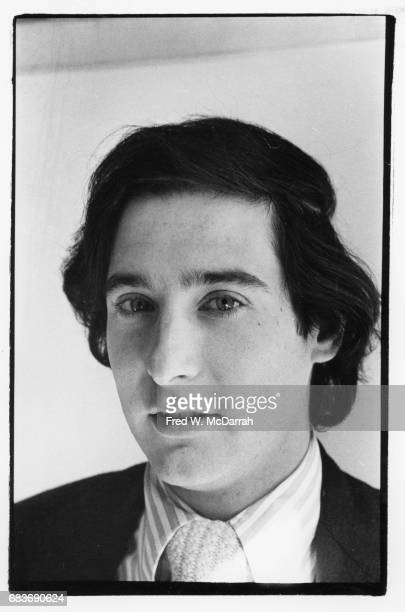 Headshort portrait of American journalist and editor Howard Blum in the offices of Village Voice New York New York October 13 1975