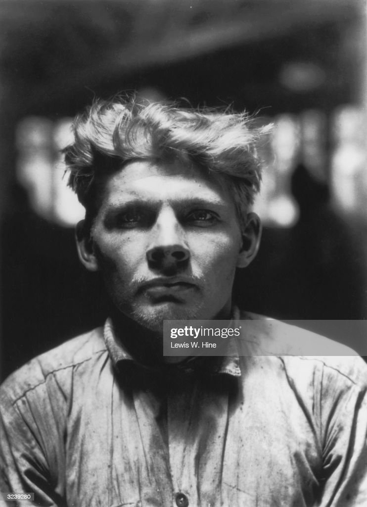 Headshot of a Finnish male stowaway, detained at Ellis Island, New York City.
