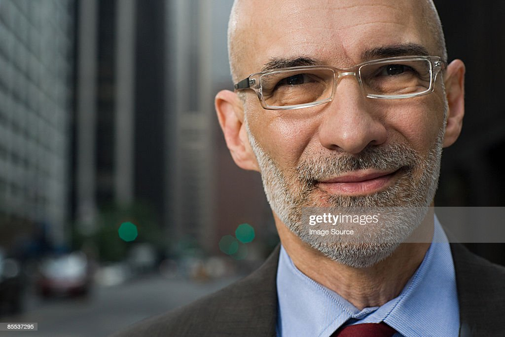 Headshot of a senior businessman : Stock Photo