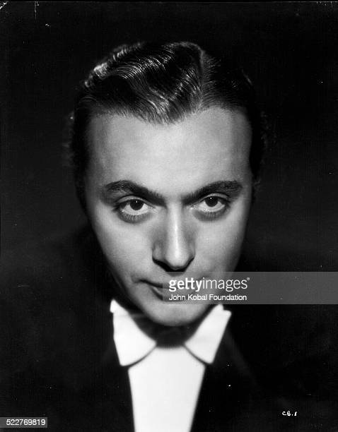 Headshot of actor Charles Boyer as he appears in the film 'Gaslight' for MGM Studios 1944