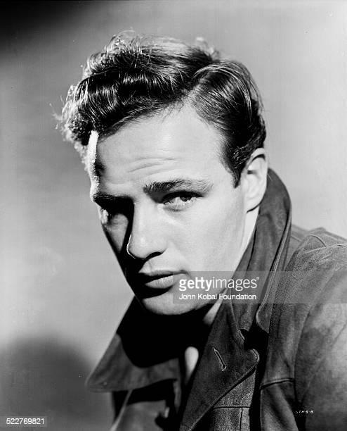 Headshot of actor Marlon Brando for Warner Brothers Studios 1950