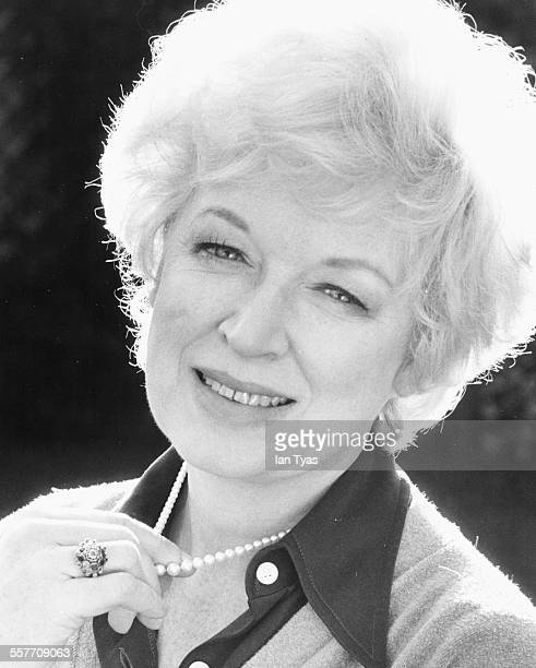 Headshot of actress June Whitfield at her home in Wimbledon England circa 1975