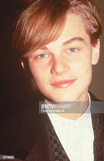 Headshot of American actor Leonardo DiCaprio circa 1991