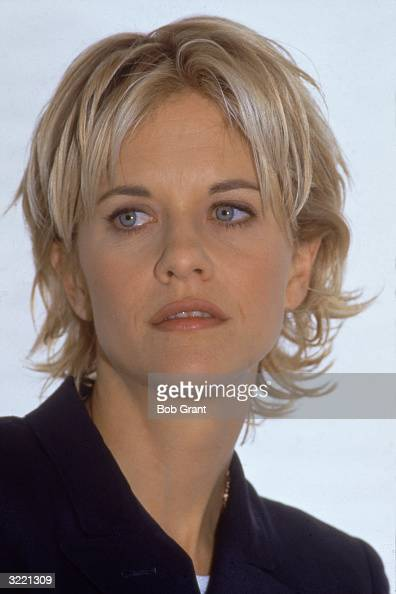 Headshot of American actress Meg Ryan March 1996