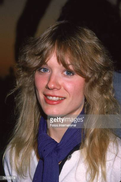 A headshot of American rock guitarist Nancy Wilson of the band Heart circa 1977