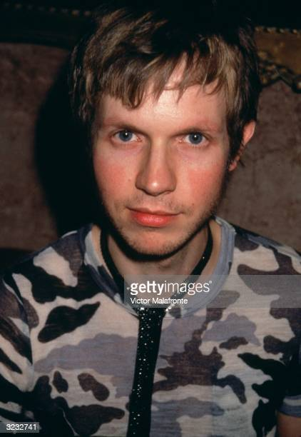Headshot of American rock musician Beck New York City