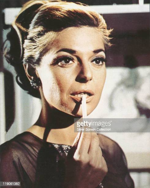 Headshot of Anne Bancroft US actress in a publicity portrait issued for the film 'The Graduate' circa 1967 The 1967 film directed by Mike Nichols...