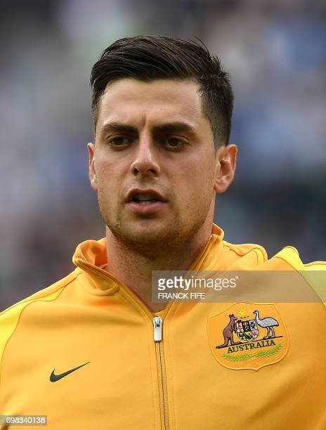 Headshot of Australia's forward Tomi Juric during the 2017 Confederations Cup group B football match between Australia and Germany at the Fisht...