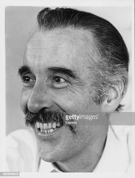 Headshot of British actor Christopher Lee circa 1975