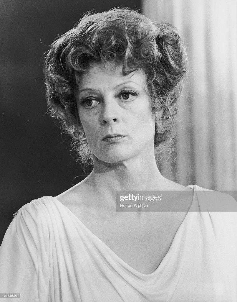 Headshot of British actor Maggie Smith as Thetis in Desmond Davis' 'Clash of the Titans'.